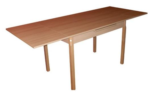 Villás II. nagyobbitható asztal laminált 80x120/200
