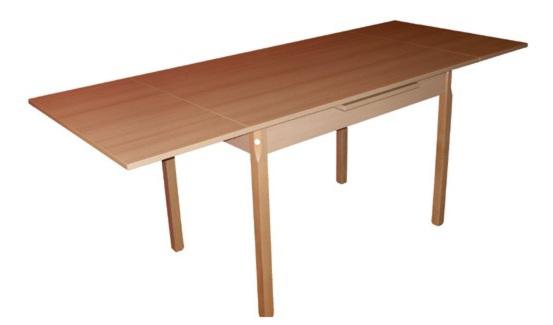 Villás III. nagyobbitható asztal  laminált 70x110/170