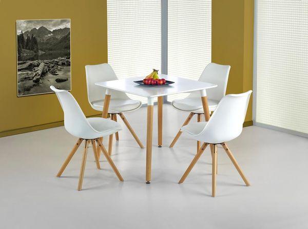 Socrates Kwadrat asztal fehér MDF, 80x80 fix