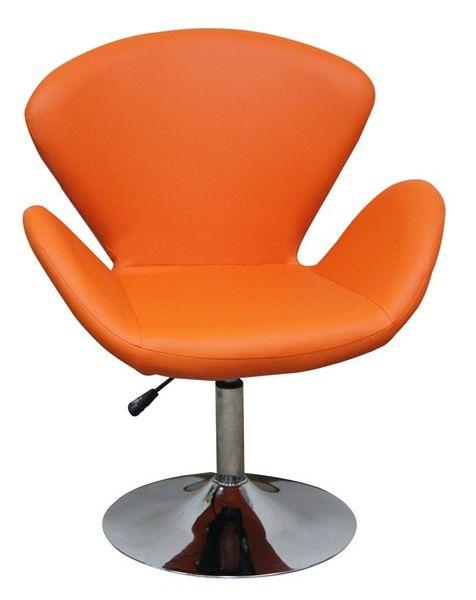 MF-6865 design coctail fotel króm, orange textilbőr, gázliftes