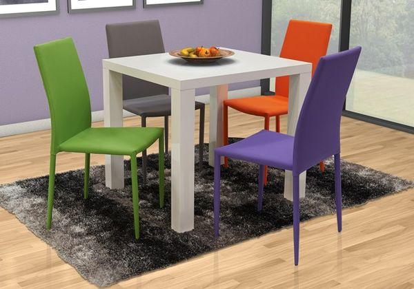 MF-5869 fémvázas rakásolható kárpitozott szék, lila szövet
