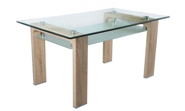Nadia üveglapos asztal