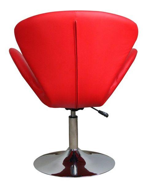 MF-6649 design coctail fotel króm, piros gázliftes