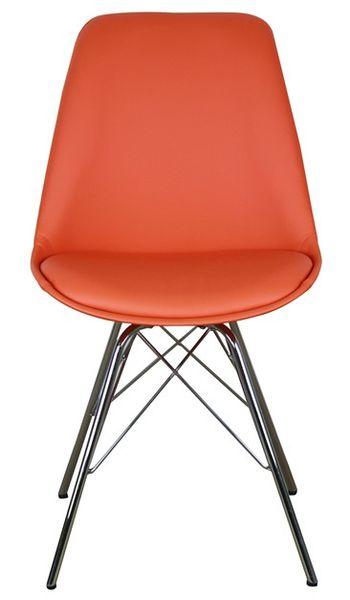 MF-8010 kárpitozott szék, króm láb, orange textilbőr
