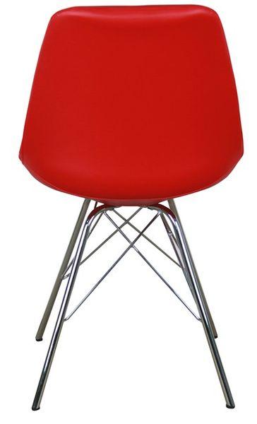 MF-8122 kárpitozott szék, króm, piros textilbőr