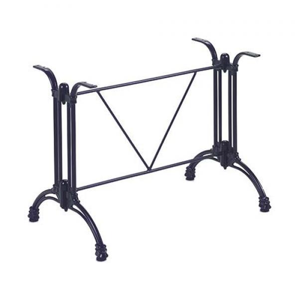Tivoli 2/Gietalu asztallábazat, fekete kettős láb