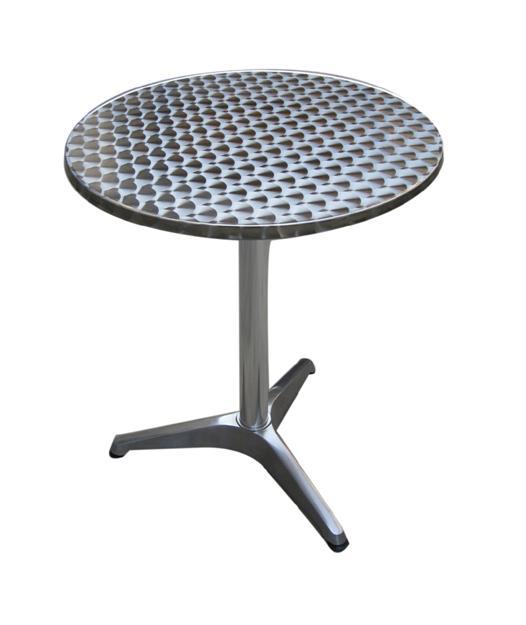 GF-1615 alu kültéri asztal, rozsdamentes tetővel 60 cm kör
