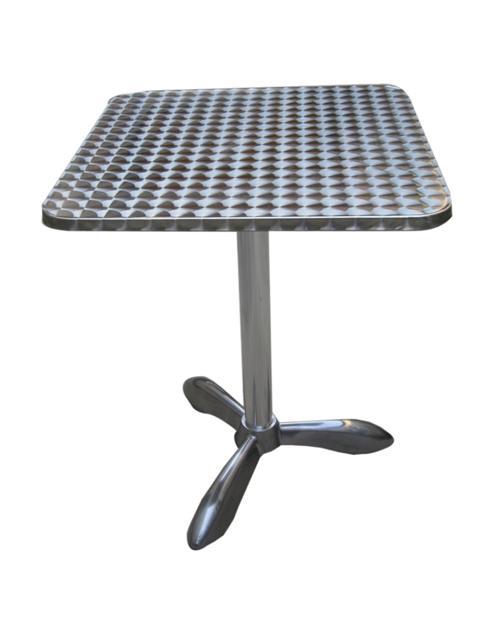 GF-1209 alu kültéri asztal rozsdamentes tetővel 60x60