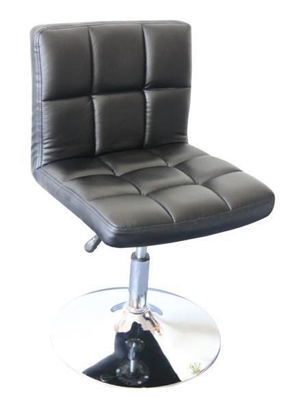 MF-3620 design szék, króm, fekete textilbőr, gázliftes