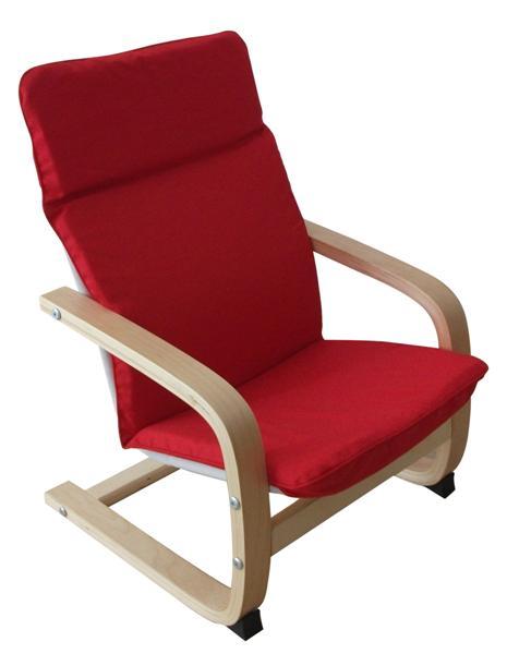 MF-0753 gyerek relax fotel natúr, piros