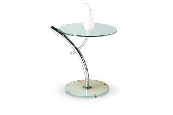 Iris dohányzó asztal króm üveglapos 50/58