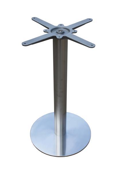 GF-2109 asztalláb kerek, metal inox