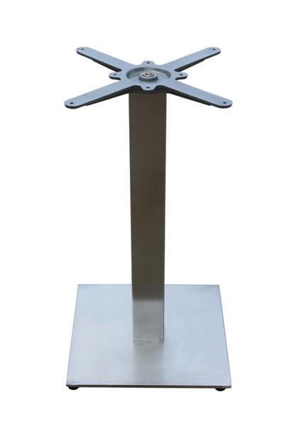 GF-2110 asztalláb négyzetes , metal inox