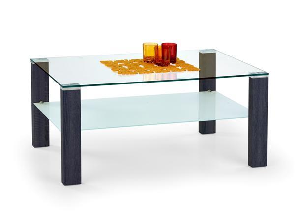 Simple dohányzó asztal üveglapos