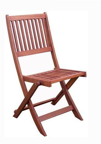 Gréta kültéri összecsukható lemezelt szék konyak