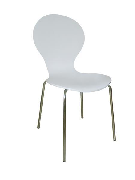 Shell (MF-0317) rakásolható lemezelt szék fehér