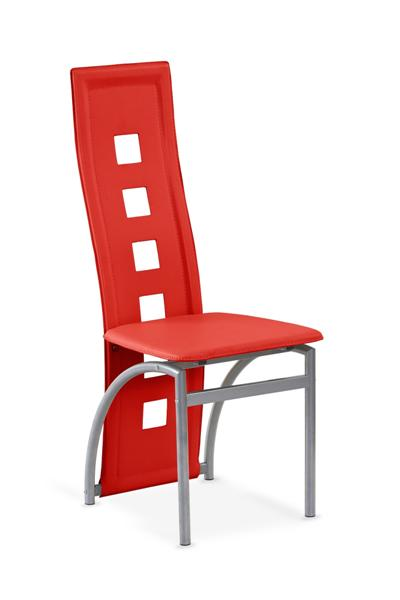 K-4-M fémvázas szék, szürke acél, PVC
