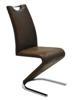 MF-5308 fémvázas kárpitozott szék króm antik barna textilbőr