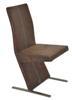 MF-5304 fémvázas kárpitozott szék króm, antik barna textilb