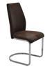 MF-6287 fémvázas kárpitozott szék króm, antik barna textilb